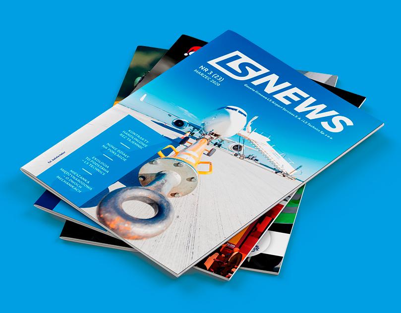 LS News - magazyn dla pracowników lotniska. Projekt, skład oraz druk czasopisma