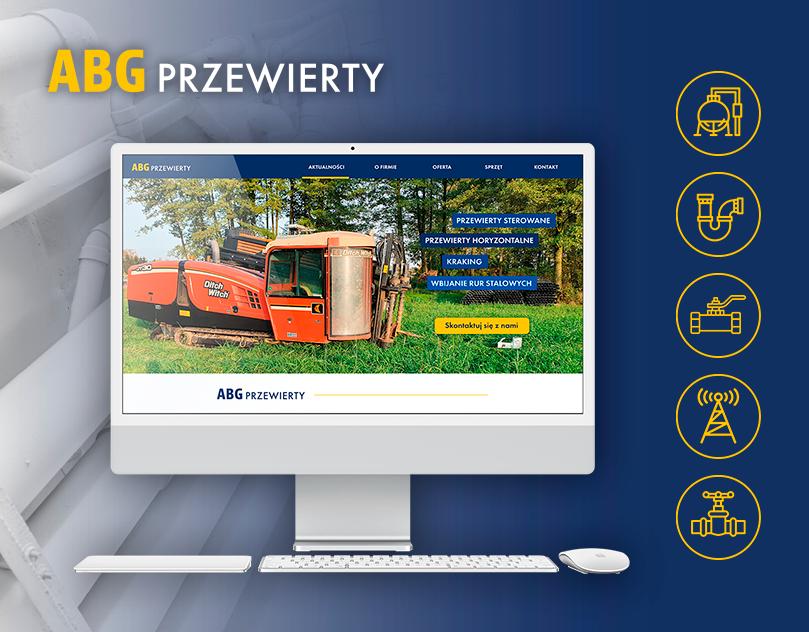 Strona internetowa dla ABG Przewierty. Prosta strona www wizytówkowa dla firmy